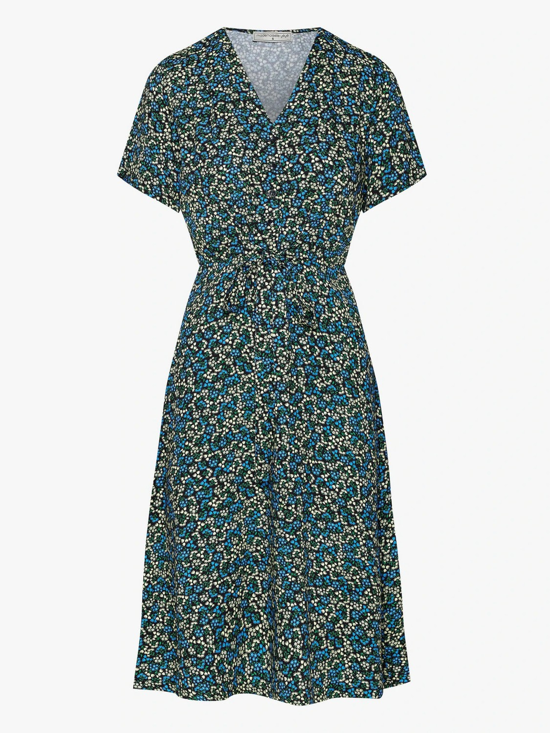 Printed dress with small flowers Twiste Et Chante Mademoiselle Yéyé