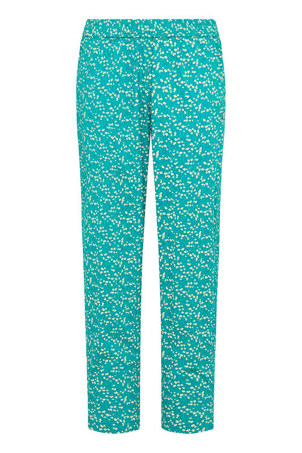 Tranquillo flowery summer trousers, blue trousers