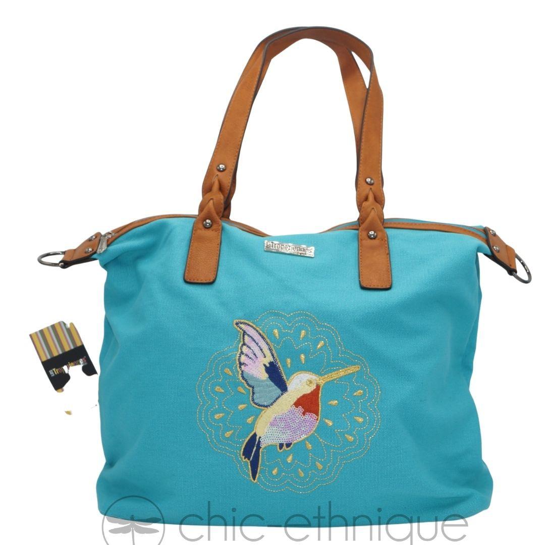 Large blue bag hummingbird the Tropéziennes