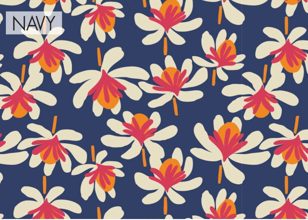 navy blue scarf printed Princess Nomad, Edith