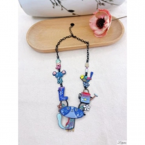 Lol Necklace Jewelry, Blue Cat