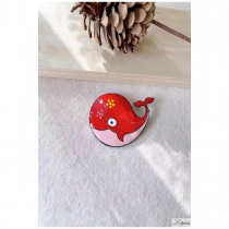 Lol Jewelry brooch, red whale