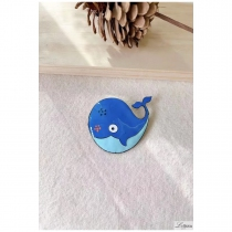 Lol brooch Jewelry, Blue Whale