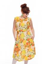 Dress retro Selma Cissi Osh, Malin Flower