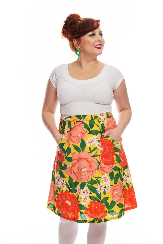 floral skirt Selma Cissi Osh, Sonja large flowers
