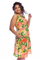 Dress in Selma Cissi Osh, Maja large flowers