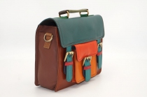 Small leather briefcase single model # 21