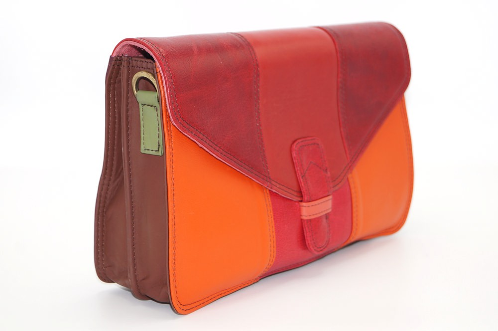 Women shoulder bag two compartments leather # 3
