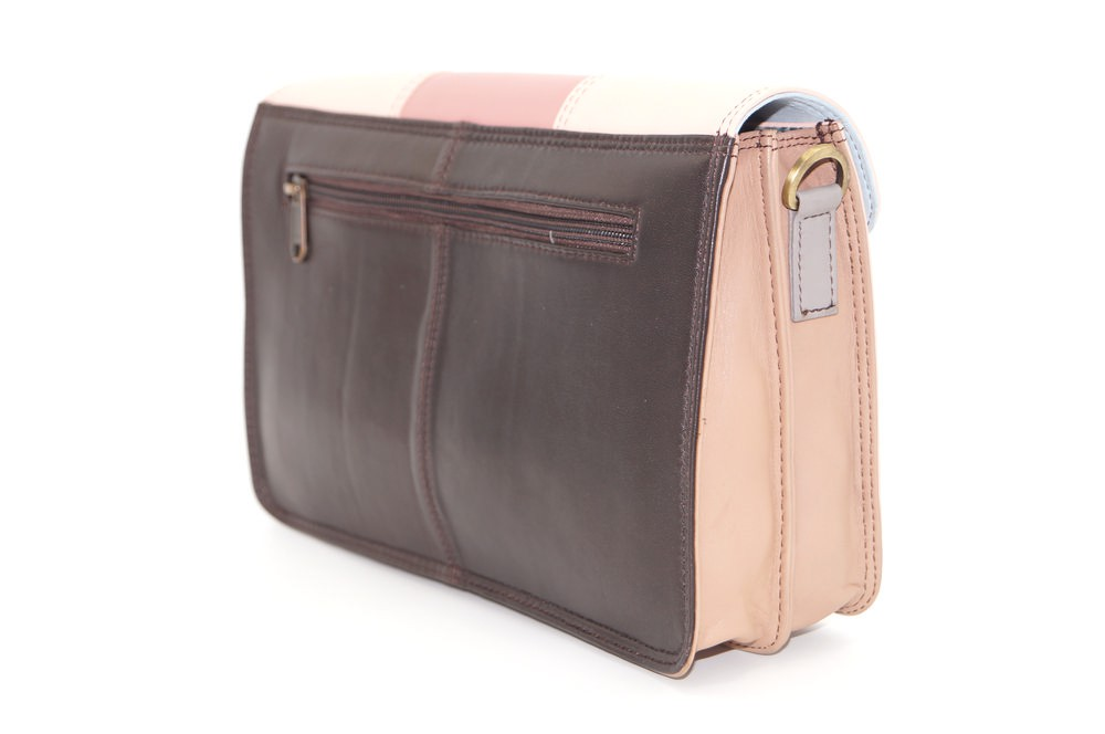 Women shoulder bag two compartments leather # 4