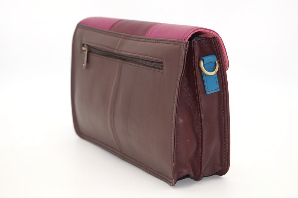 Women shoulder bag two compartments leather # 5
