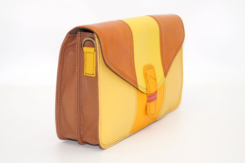 Shoulder bag woman two compartments leather # 7