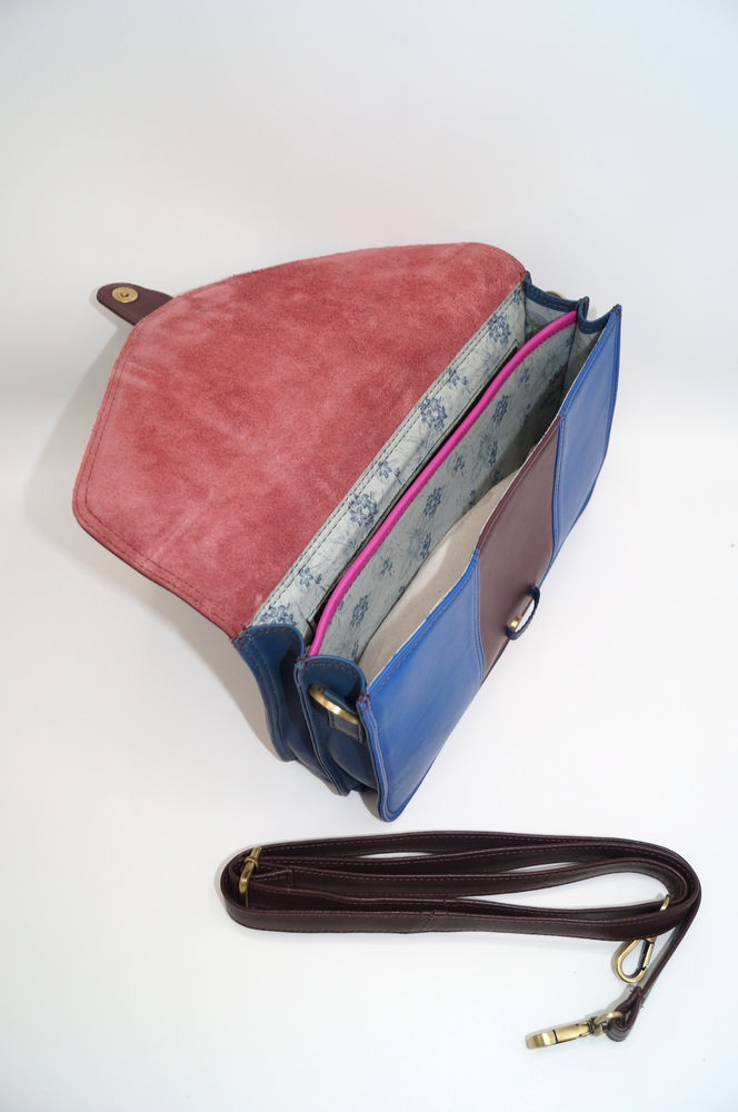 Women shoulder bag two compartments leather # 8