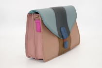 Women shoulder leather bag two compartments # 9
