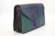 Women shoulder bag two compartments Leather # 10