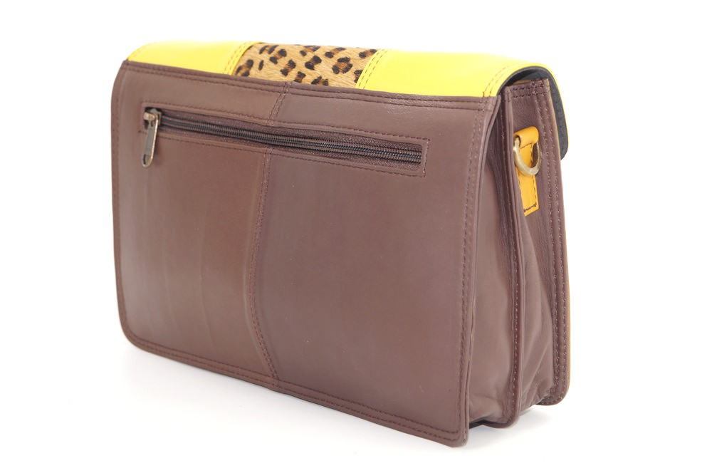 Women shoulder bag two compartments Leather # 13