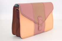 Women shoulder bag two compartments Leather # 15