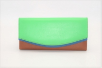 Large leather wallet / Companion / single pouch woman # 2