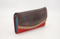 Large leather wallet / Companion / single pouch woman # 3