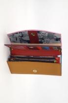 Large leather wallet / Companion / single pouch woman # 6