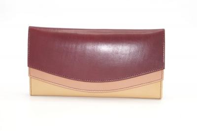 Large leather wallet / Companion / single pouch woman # 13