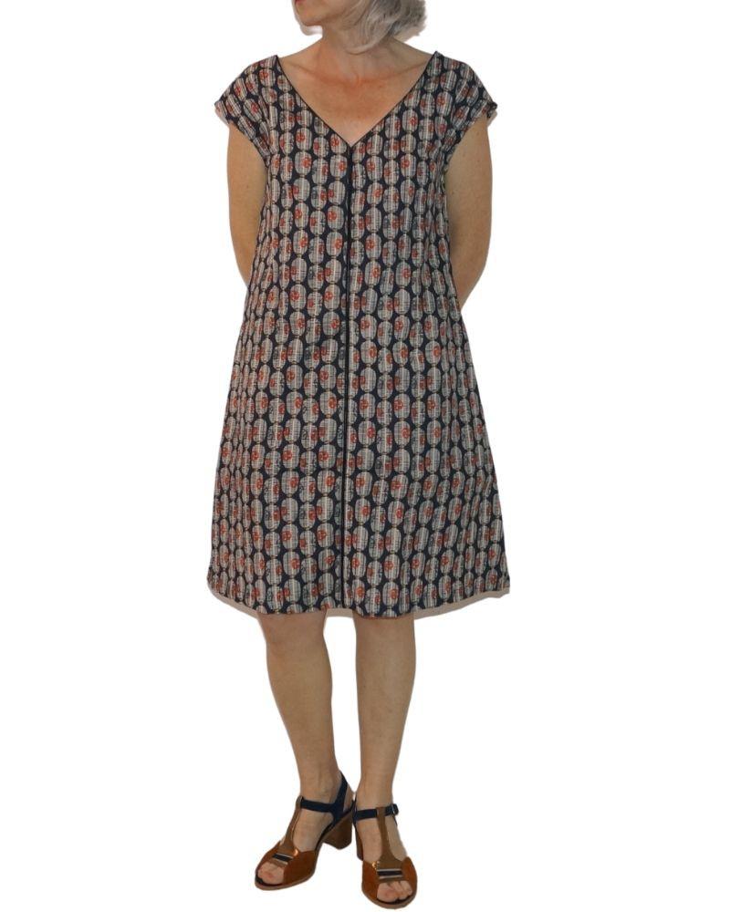 Large printed dress, french fashion brand Bla-Bla