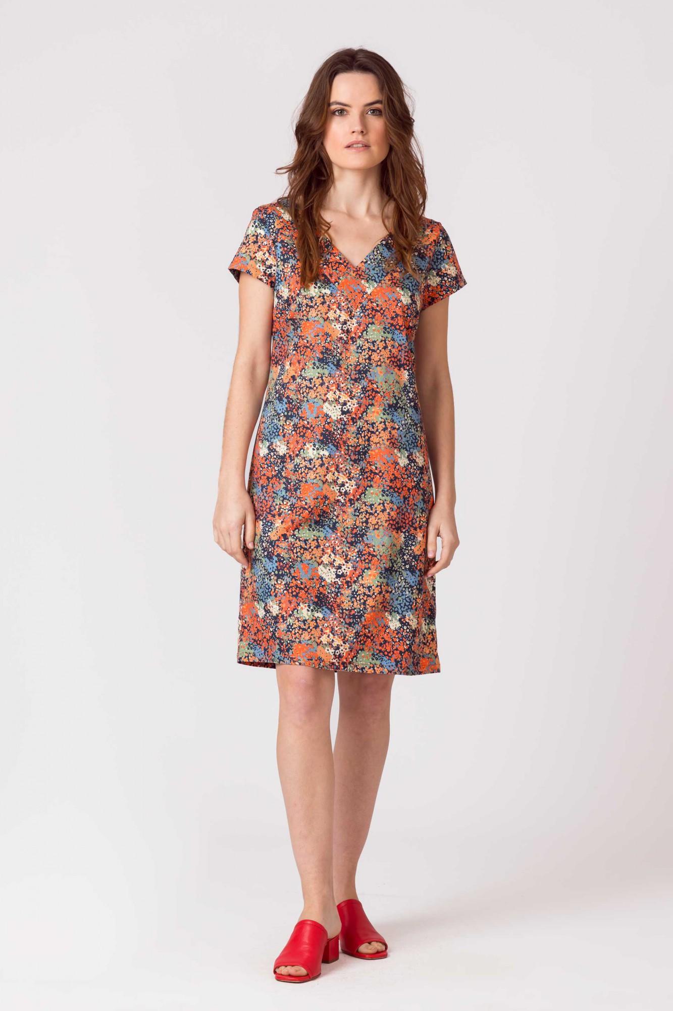 Floral dress SKFK, domna