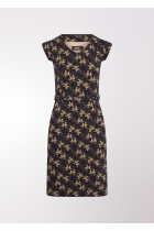 blue vintage dress, floral and geometric 4FF, Life is something special