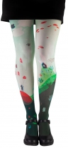 Poetic original tights, patterned tights Dreams white