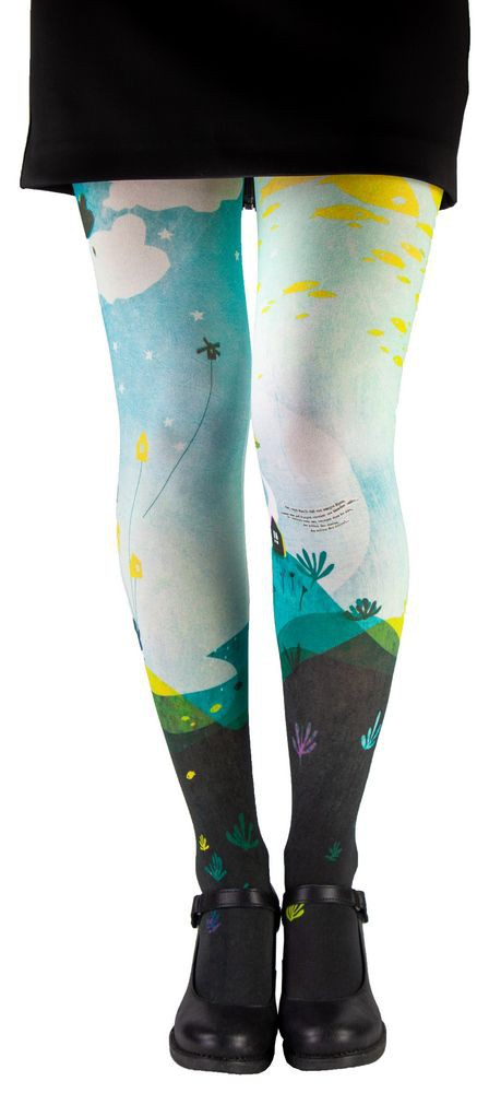 Poetic original tights, patterned tights Dreams blue
