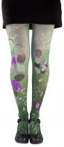 Original green fancy tights Eucalyptus Lili Gambettes
