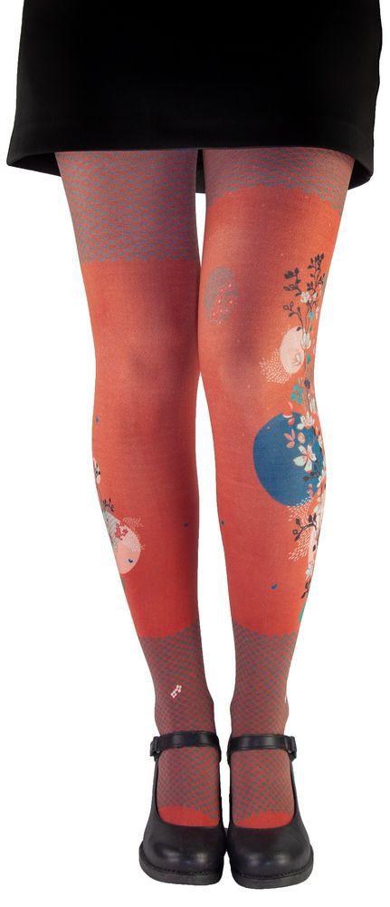 Original red tights pantyhose Lili Gambettes