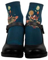 Women's dark blue fantasy sock Lili Gambettes Butterfly
