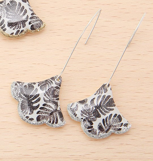Earrings Silver Gingko La Belle Camille