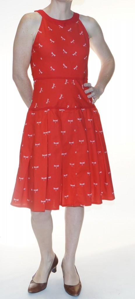 Slim red dress drongo Blabla