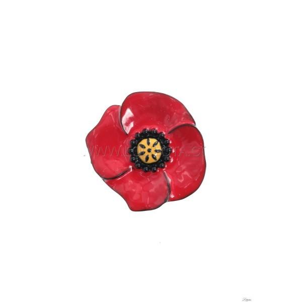 Pin poppy red Lol Jewelry