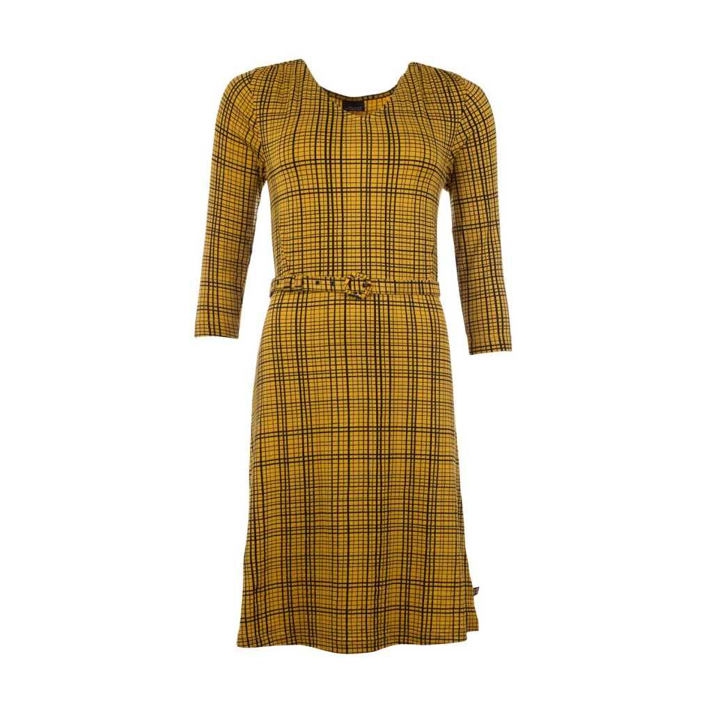 Yellow vintage dress, ecological, Alicia Gridlines Froy and Dind
