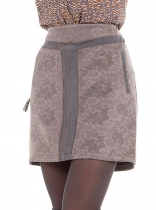 Short skirt akinolaude gray suede