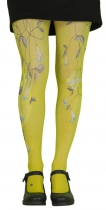 Fantasy tights printed yellow bell Lili Gambettes