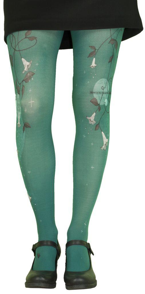 Fantasy tights printed Bell Blue Lili Gambettes