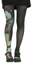 Pantyhose woman black background, Pop Art, Lili Gambettes