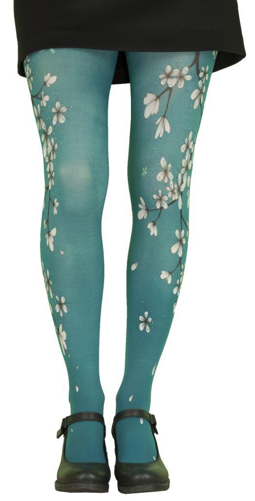 Tights japonisans Lili Gambettes Sakura blue