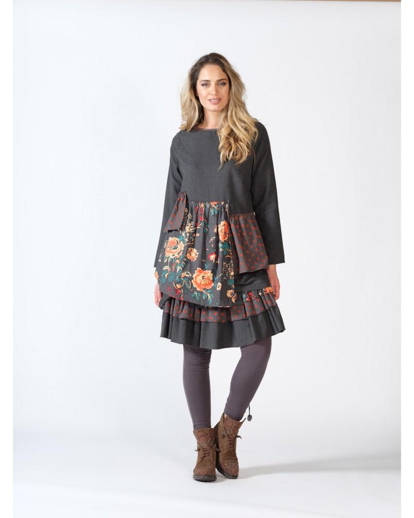 Tiered Skirt Melissa 8 Rhum Raisin