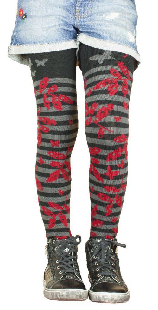 Tights kids originals black and red patterns Lili Gambettes
