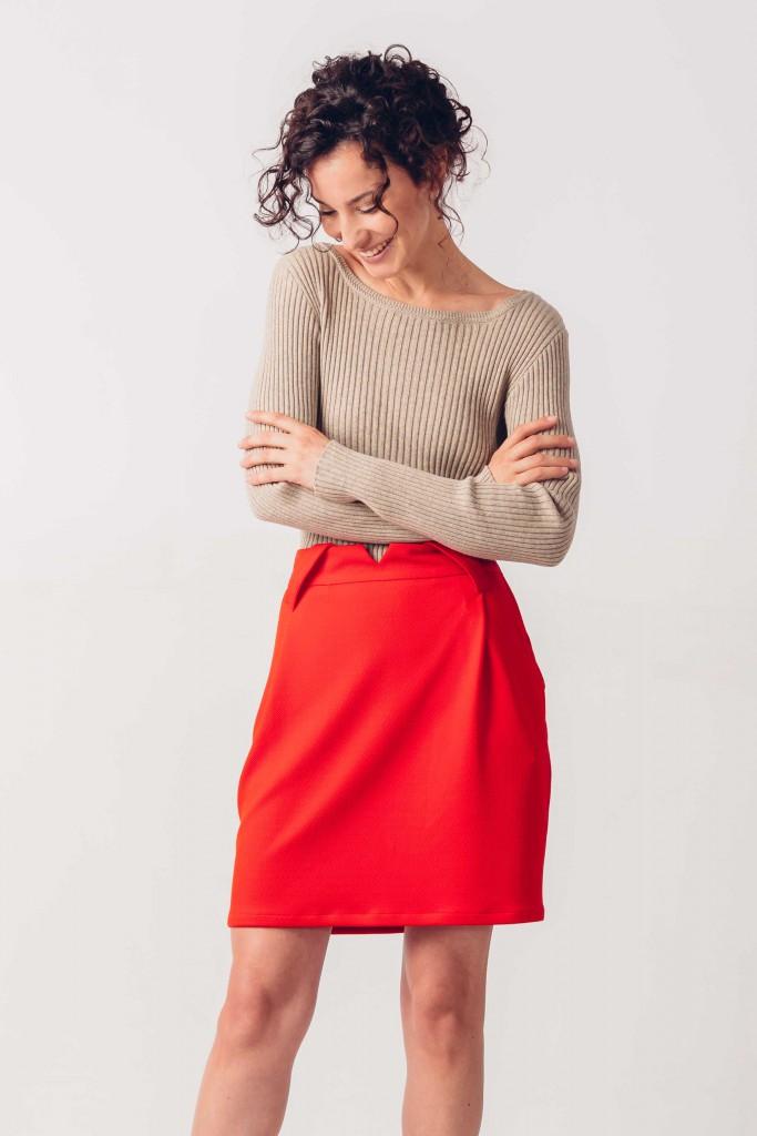 right orange-red skirt Artza SKFK