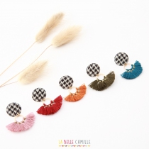 Pierced ears original nail pompom La Belle Zelie Camille