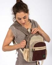 Bag back and ecological ethics brown hemp Bhangara