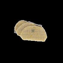 Set of 3 small pockets yellow hemp Bhangara