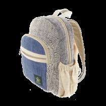Bag back and ecological ethics blue hemp Bhangara