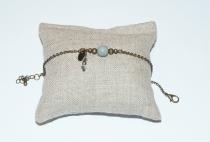 Bracelet original en bronze perle grise Elmalao
