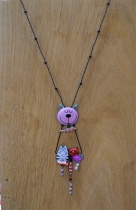 Lol necklace jewelry, pink cat